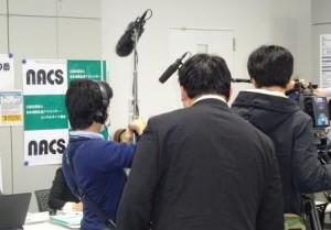 多くの報道関係者から取材を受けました。